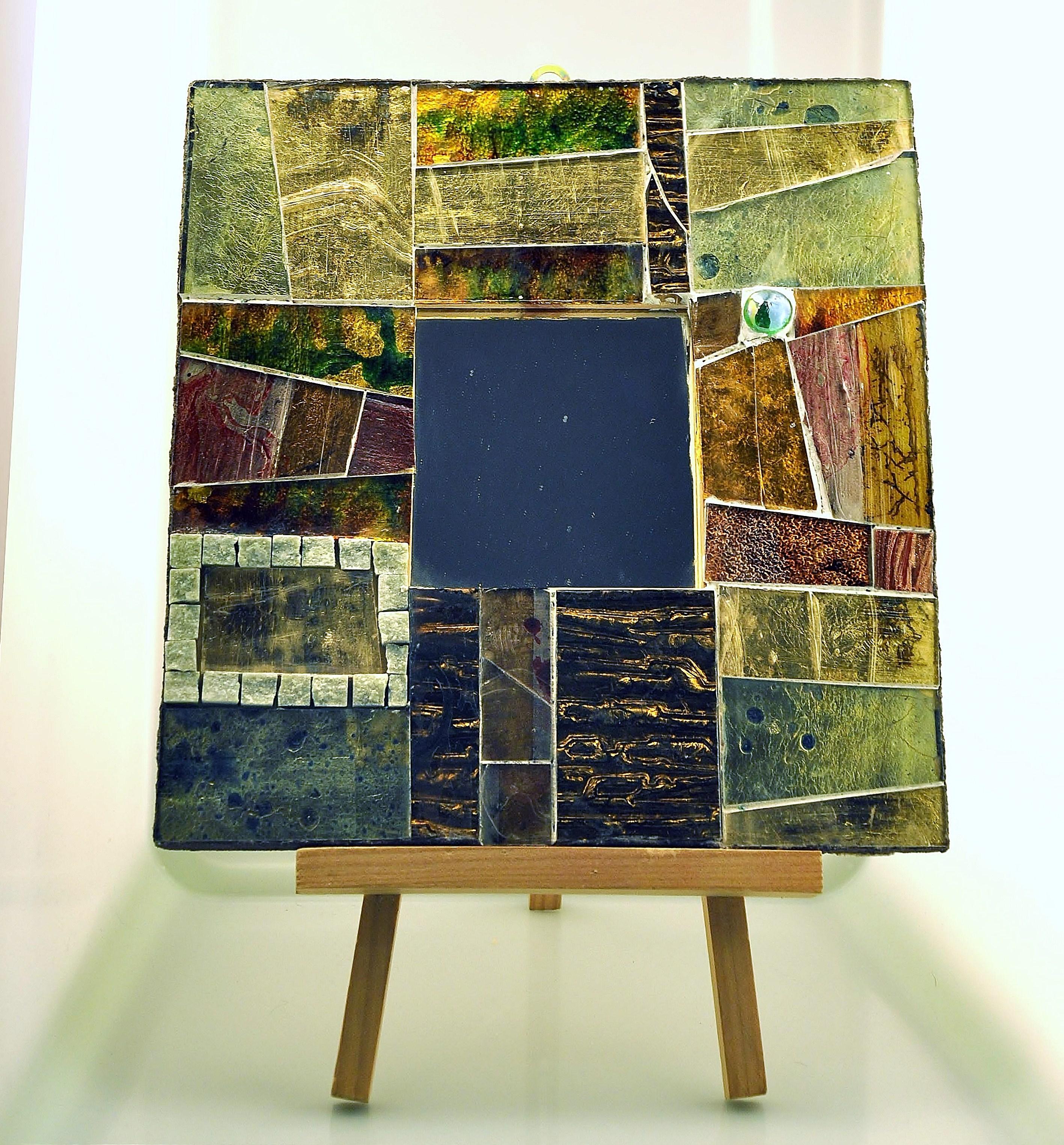 Specchio mosaico quadrato vetro e marmi naturali - Specchi colorati ...