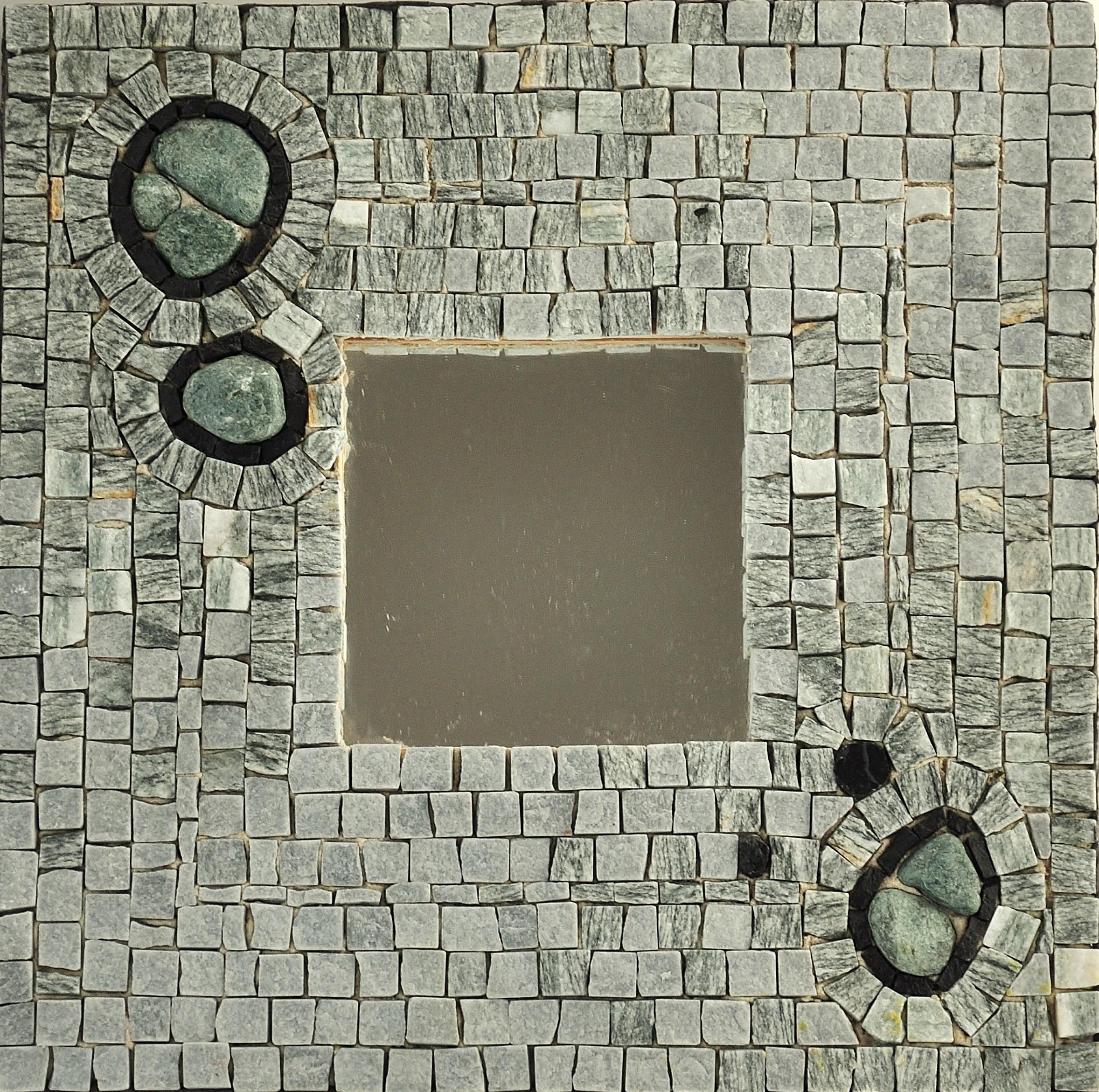 Specchio mosaico quadrato designer mosaici - Specchio con mosaico ...