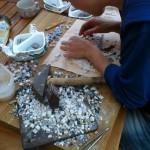 corso base mosaico- il tavolo di lavoro-giorgia palombi